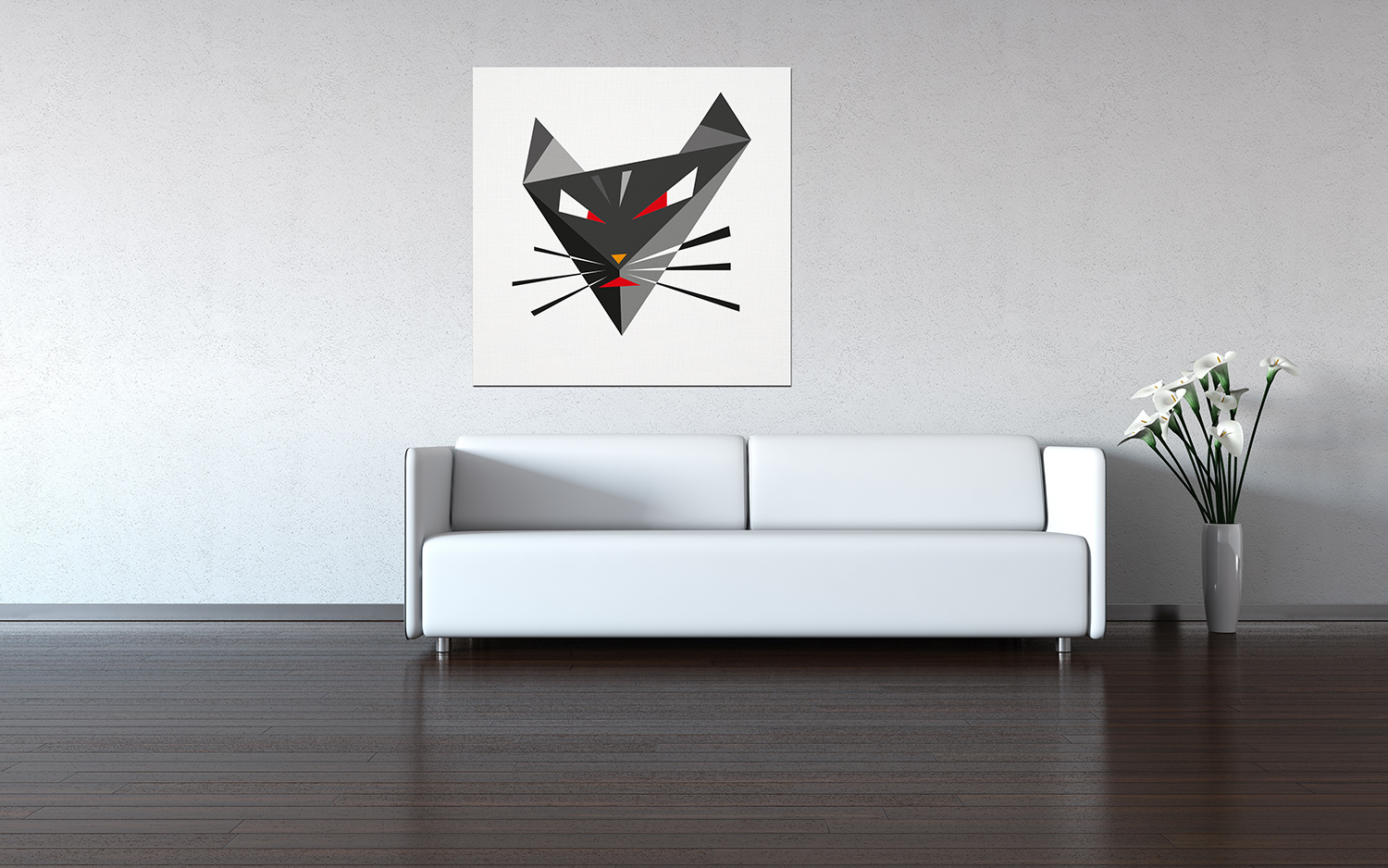 poster triangle-cat